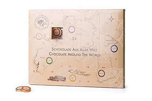 DreiMeister Schokoladen Adventskalender 2019 Reise um die Welt mit 25 Golddublonen - Vollmilch, Zartbitter - Geschenk für Männer und Frauen