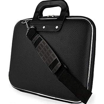 kurainnpvtltd Cloudo India Laptop Messenger Unisex Hard Shell Durable PU Leather Black Briefcase Laptop Bag Made in India