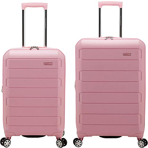 Traveler's Choice Pagosa Indestructible Hardshell Expandable Spinner Luggage, Pink, 2-Piece Set (22/26)
