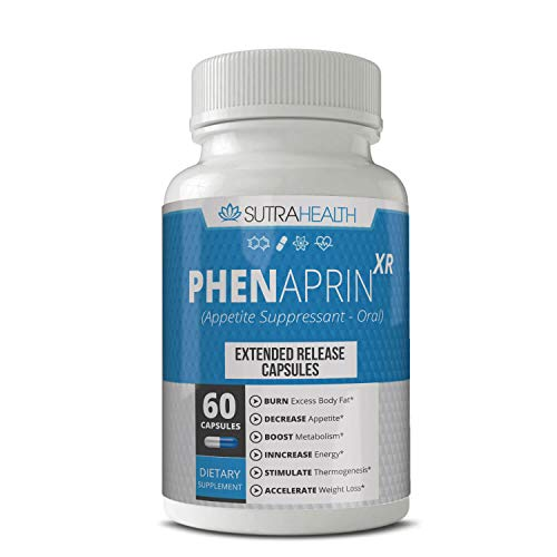 PhenAprin XR Weight Loss Diet Pills | 60 Blue/White Capsules | Professional Grade Formulation – Maximum Strength Appetite Suppressant for Women and Men