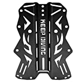 Qinlorgo Aluminiumlegierung Harness Backplate Back Plate für Tauchen unter Wasser(Schwarz)