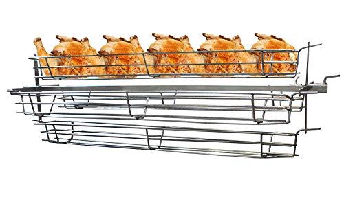 Beeketal Hähnchengrillkorb Haxenkorb Aufsatz für Spanferkelgrill