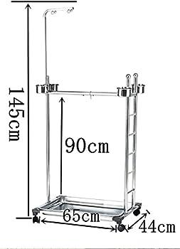 BCGT Pieds pour Cages à Oiseaux Stands à Oiseaux métalliques roulants avec étagère de Rangement détachable et conteneur de Nourriture
