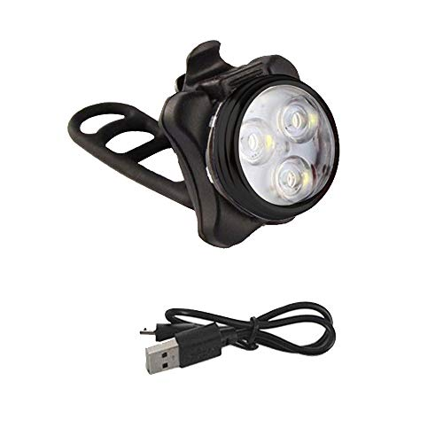 About1988 LED Fahrradlicht Set   USB Wiederaufladbare Frontlicht or Rücklicht Set   LED Fahrradbeleuchtung Aufladbar Akku, 3 Lichtmodi, Zubehör für Rennräder, wasserdicht (A)