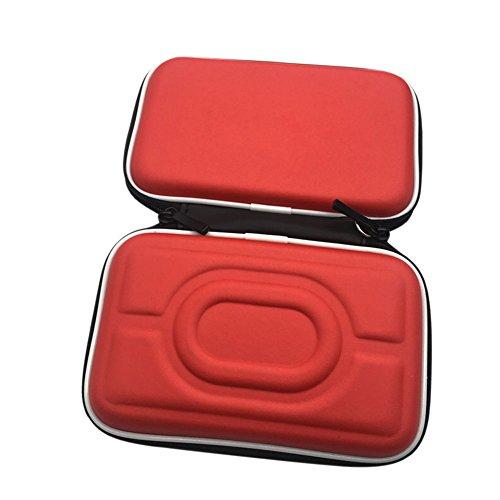 Meijunter Custodia rigida in EVA Cassa Borsa Case Bag per Nintendo Gameboy Advance GBA Gameboy Color GBC consolle (Rosso)