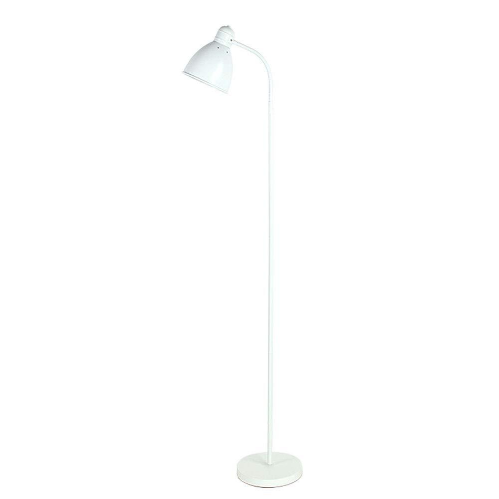 Licht lampadaire /à pied m/étal blanc Classe /énerg/étique A++ salle /à manger salon chambre, B.K t/ête inclinable pour bureau lampe /à vasque style industriel moderne