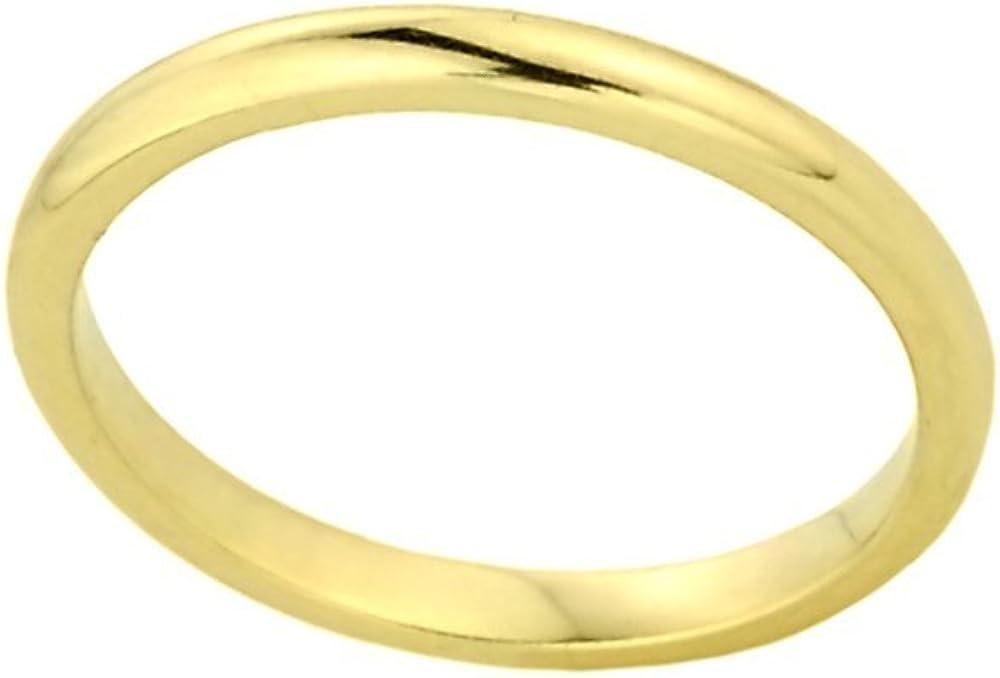 Stacking 14k Yellow Gold Sizable Plain Toe Ring