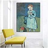 Gopfl Kind mit Einer Taube Pablo Picasso Poster Bilder