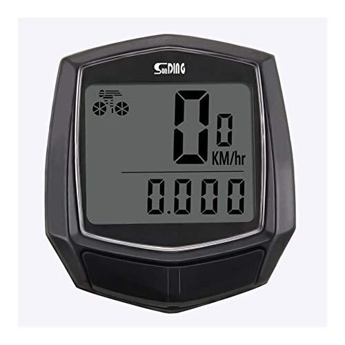 Waterproof Bike Computer Wired Multifunzionale della Bicicletta a Cristalli liquidi del tachimetro del calcolatore Ciclismo Accessori cronometro Durevole (Color : Black)