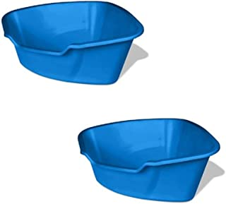 Van Ness Small Litter Pan, Assorted Colors (Corner 2 Pack)