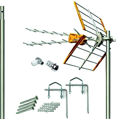 Kit Antena Televes 5G + Mastil 1.5m + Garras + Conexiones