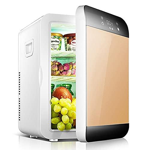 Refrigerador Pequeño PortátilMini Nevera para Enfriar Y Calentar, Mini Refrigerador Portátil para Coche Y Casa, Mini Nevera Portátil para El Skincare Latas De (Color : Gold)