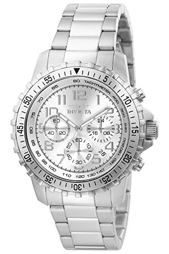 Invicta Men's Specialty 45mm Stainless Steel Chronograph Quartz Watch, Silver (Model: 6620)