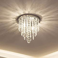 Chandelier Size: 10.4 inches high and 8.7 inches wide. Suggested Room Size: 5-8㎡ .(Please note the chandelier size before order) Comfortable Glow: 120V 40watts; Bulb base: G9. (*Bulbs Not Included* You need to get 2*G9 Led Bulbs depending on the ligh...