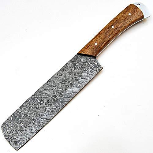 PAL 2000 Damascus stål kock köksknivar – 18 cm cirka full Tang Damaskus stål kockkniv – bästa handgjorda Damaskus kökskniv med mantel köp med självförtroende 9533
