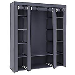 QUICK AND EASY TO ASSEMBLE: Comes with clearly installation instructions, this amazing closet makes your clothes or daily accessories easy to access, you will have it assembled in minutes, easy to put together STURDY & DURABLE CONSTRUCTION: Made from...