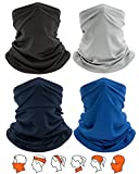 Yemo [4 Pack] Unisex Sun UV Protection Cooling Face Scarf Cover Mask Neck Gaiter, Headband Fishing...