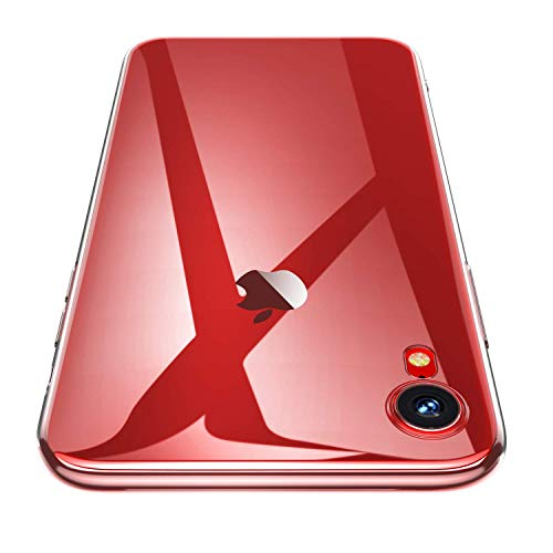 HOTUCG iPhone XR Hülle Transparent, Ultra Slim Silikonhülle Durchsichtig Rückseite Flexible TPU Schutzhülle Crystal Clear Case Cover Bumper Handy Hülle für iPhone XR, 6.1 Zoll (Transparent)