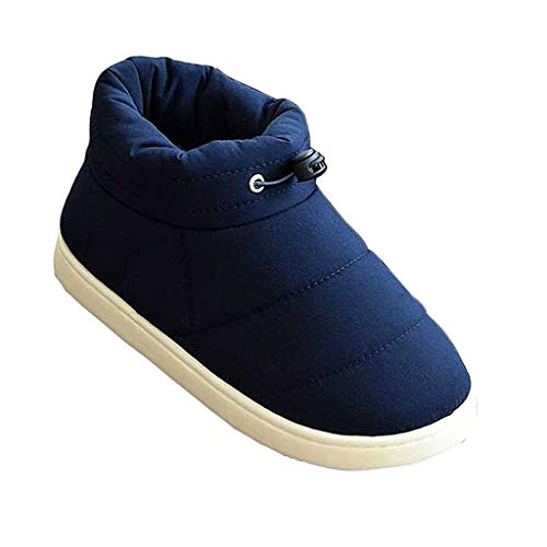 Toygogo Soft Cotton Slippers Winter Warm Foot Booties Camping Tent Shoes Footwear - Dark Blue 40-41