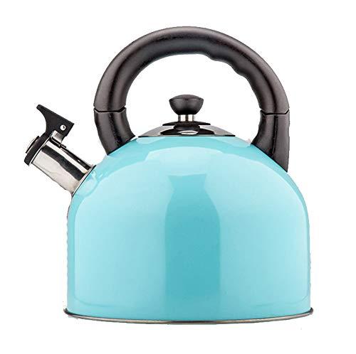 Tetera del Acero Inoxidable, Hervidor De Agua Silbante, Hervidores De Estufa, 4.4L, Adecuado Para Cocina De Gas/Gas/InducciÓN, Hervidor de Agua de Estufa