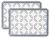 Estera antiadherente de silicona para hornear galletas, 2...