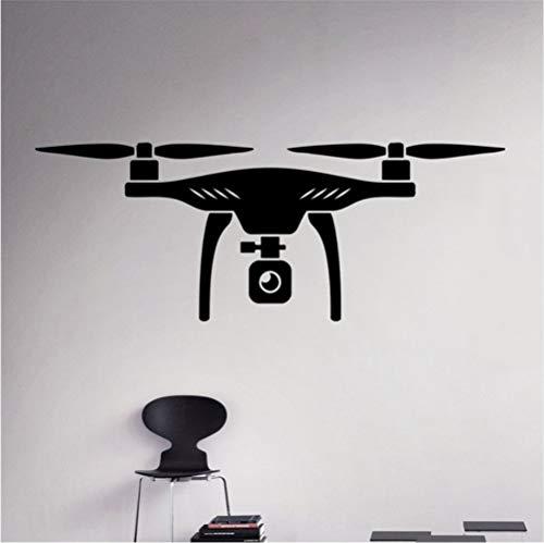 Hllhpc Air Drone Wall Decalcomania Vinyl Quadcopter Wall Sticker Luchtvoertuig Home Wall Art Decor idee Binnen Afneembaar Kids Room Design 58X22 cm