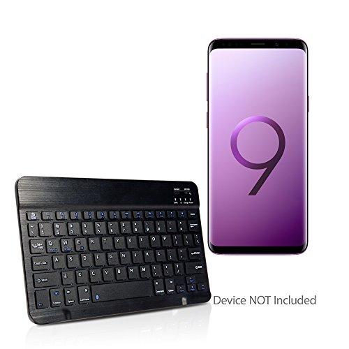 Samsung Galaxy S9 Plus Keyboard, BoxWave [SlimKeys Bluetooth Keyboard] Portable Keyboard with Integrated Commands for Samsung Galaxy S9 Plus - Jet Black