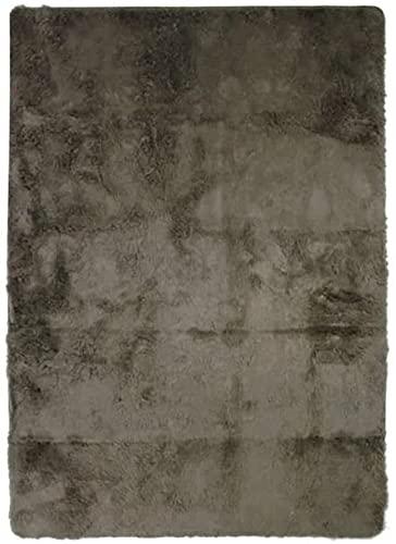 Tapis à Poils Longs Extra-Doux, 60cm x 90cm, Taupe