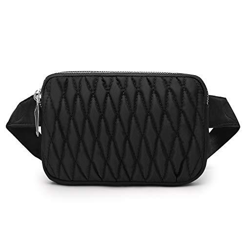 Wind Took Mode Damen Gürteltasche Bauchtasche Hüfttasche für Reise Alltag Outdoor Mini,18 x 4 x 12 cm, Schwarz