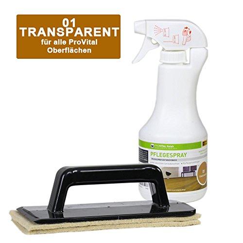 Weitzer Parkett ProVital Pflegespray 500ml Farblos inkl. Handpadhalter Pro - Set