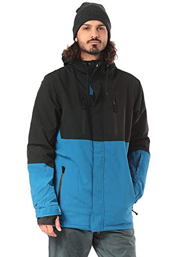 Light Herren Danzig Jacket, Black/Faience Blue, xs