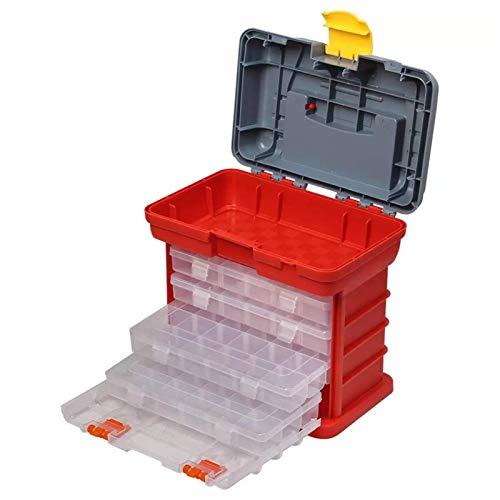 FEEE-ZC Caja de plástico multifunción de 4 Capas, Caja Grande, Piezas de Tornillo, Caja de Almacenamiento, Caja de señuelos, Accesorios, Caja de Herramientas