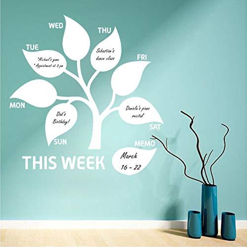 Sanzangtang vinylkunst Deze week verwijderbare muursticker laat de uitlaat van de notitieplanner decoratiebord, affichewand
