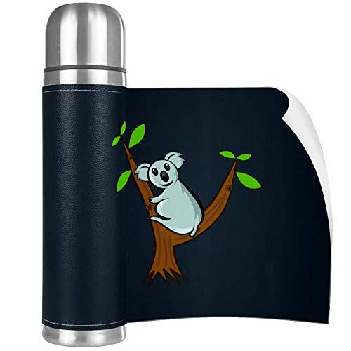 Xingruyun Waschbär Thermoskanne Tasse Edelstahl 500ml Vakuum Isolierflasche Kaffeetasse Wasserkocher Reise Tragbare Tasse Abdeckung 26x6.7cm
