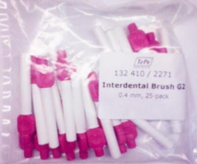 Tepe Xxxx-Fine Interdental Brush G2 0.4mm Pink x 25 by Tepe