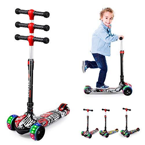 Roller Kinder 3 Jahre, Roller Kinder, Scooter Kinder, Kinderroller mit 3 LED-Rädern, geeignet für Jungen und...