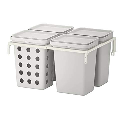 My- Stylo Collection Abfallsortierlösung für Küchenschubladen, belüftet, lichtgrau, Produktgröße: 40 Liter