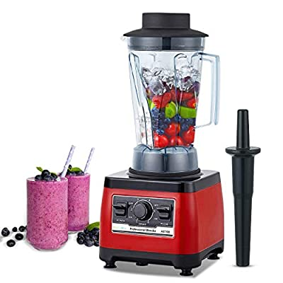 BioloMix Heavy Duty Professional Blender, 1500W Commercial Grade Bar Blender With 70Oz Container For Shakes, Smoothies, Ice Crushing, Frozen Cocktails, Soups, Dry Grinding (Red)