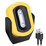 LED Work Light Rechargeable & Magnetic & Portable, Eyes' Protection, Low/High & SOS Modes, for Car Repair, Household and Outdoor
