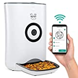 Arf Pets Smart Automatic Pet Feeder with Wi-Fi, Programmable Food Dispenser for Dogs & Cats with Easy App-Controlled Feed Timer, 20-Cup Capacity, Dishwasher-Safe Bowl & Bucket, for iPhone & Android