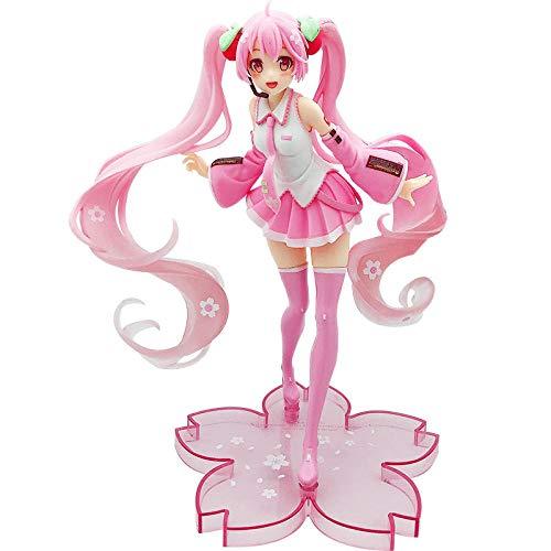 Hatsune Miku Anime Modell Anime Statue Sakura Hatsune Tasche Rosa Miku PVC Bewegliche Dose Collectables Höhe: 20 cm