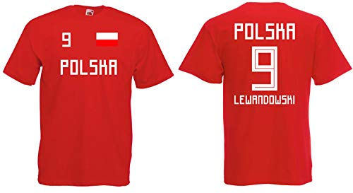 Polen Lewandowski T-Shirt Trikot WM-2018 Look NEU