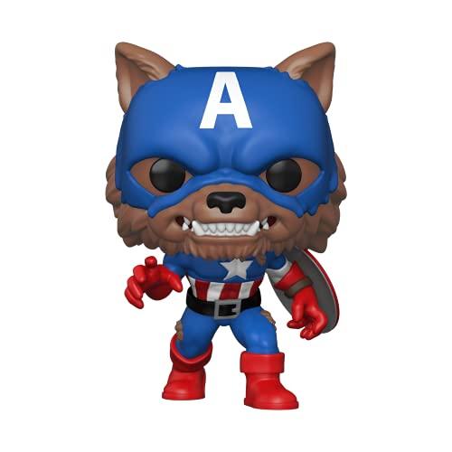 Funko 55506 POP Marvel: Year of the Shield - Captain America Capwolf (Amazon Exclusive)