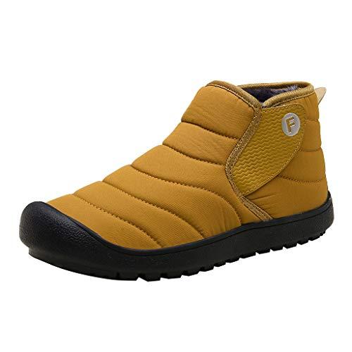 BoyYang Unisex Herren Anti Rutsch Plus Samt warme Baumwolle Schuhe Schnee Stiefel Booties kurze Baumwollstiefel Winter Boots Winterstiefel Wanderstiefel Wasserdicht Rutschfest Outdoor Stiefel