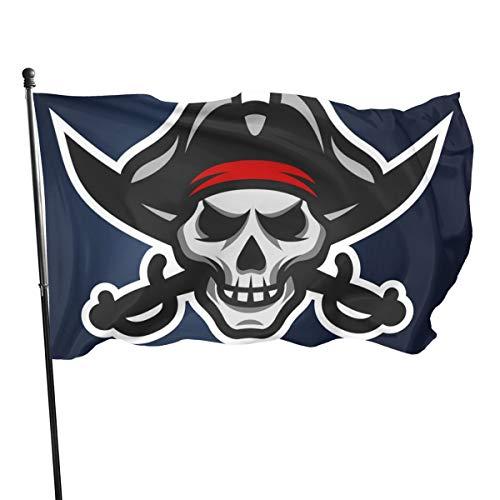 Banderas decorativas de jardín con diseño de calavera pirata y espadas cruzadas de Emonye, 3 banderas para decoración de interiores y exteriores