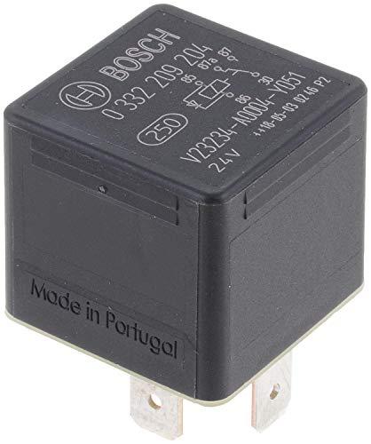 Bosch 0332209204 Mini relé de 24 V 20A, IP5K4, temperatura de funcionamiento de -40° a 85°C, relé de 5 pines con diodo