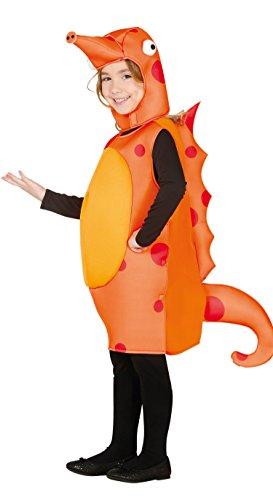 Guirca Seepferdchen Kostüm für Kinder,Orange,7-9 Jahre (125 - 135 cm)