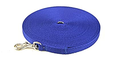 Church Products UK 50ft Dog Training Lead Puppy Obedience Leash 13mm Strong Webbing In (Royal Blue)