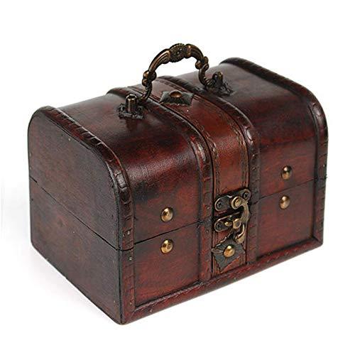 Lshbwsoif Caja de almacenamiento para el cofre del tesoro pirata, vintage, caja...