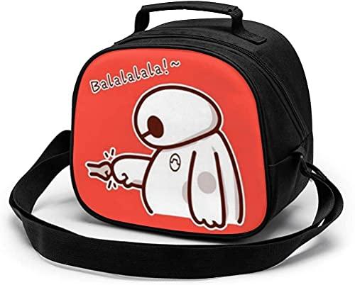 Bolsa de almuerzo para niños, linda bolsa de almuerzo portátil reutilizable de Baymax Mini Cooler Bolsa...